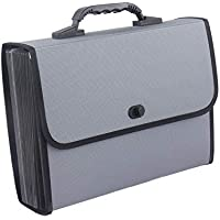 Ghkjok Expanding File Folders A4 Paperwork Carrying Case