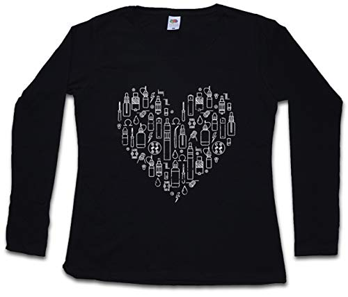 Vapor Love Mujer Camiseta de Manga Larga Tamaños XS - 2XL