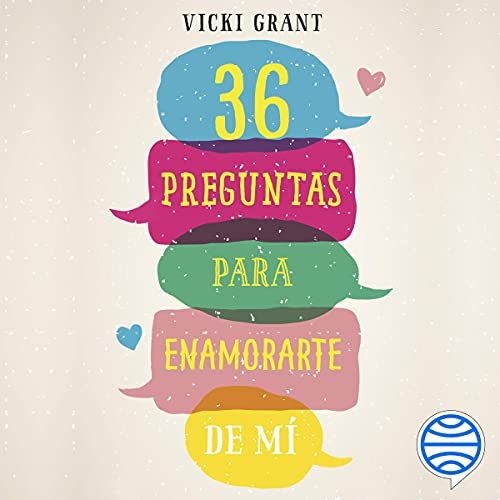 Diseño de la portada del título 36 preguntas para enamorarte de mí