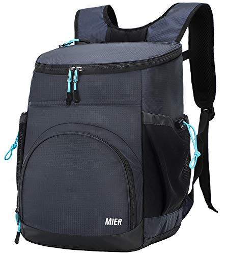 MIER Leakproof Backpack Cooler Insulated Lunch Backpack with iPad/Tablet Pocket for Men and Women to...