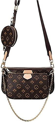 Sungg Mahjong Bag Umhängetasche Schultertasche 3 in 1 Luxus-Handtasche PU Leder Tragetaschen Fashion für Frauen.Braun…
