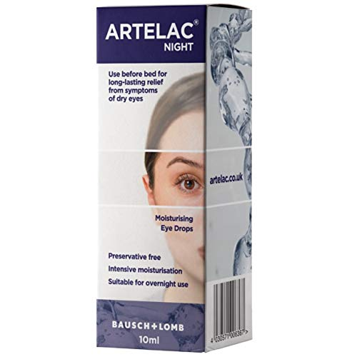 Artelac Night Eye Drops 10ml Provides Immediate Relief and Long-Lasting Moisturisation