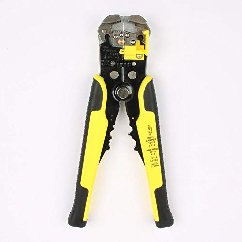 Pliers Tools Tool 3 In 1 Automatic Cable Wire Stripper Crimping Plier Self Adjusting Crimper Adjustable Terminal Cutter Wire Multitool Crimpe YELLOW plier