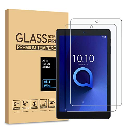 [2-Pack] PULEN Tempered Glass for Alcatel Joy Tab/Joy Tab Kids and Alcatel3T8'' Screen Protector,HD Clear Bubble Free Easy Installation Anti-Fingerprints 9H Hardness