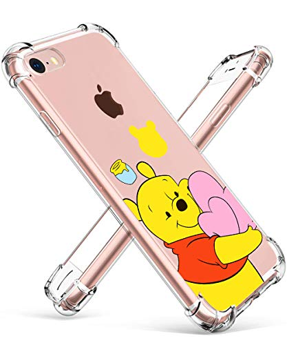STSNano Case for iPod Touch 5/6/7 Fashion Cute Cartoon Soft TPU Cover, Love Bear Design Fun Clear Funny Protective Skin Slim Fit Ultra-Thin Bumper Shockproof Teens Kids Cases for iPod Touch 7&6&5