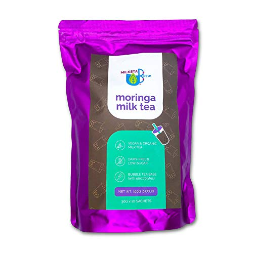 Breastfeeding Support Lactation Milk Tea: Moringa Vegan Tea Latte Mix to Boost Breast Milk Supply - with Brewers Yeast / Electrolytes for Breastmilk Production (300 grams)
