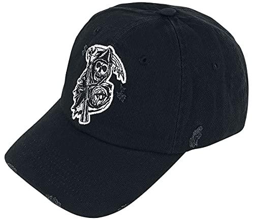 Sons of Anarchy Reaper Hombre Gorra Negro, 100% algodón,