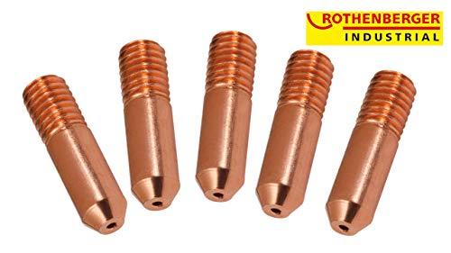 ROTHENBERGER Industrial Stromdüsen MIG/MAG M6 0,6 x 25 mm - 5er Pack