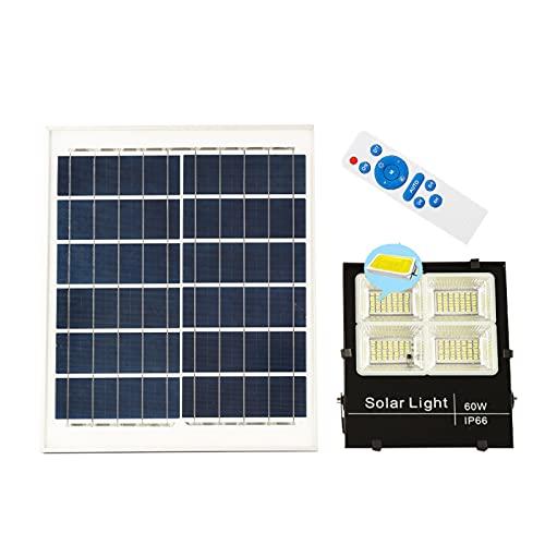 YLR Farola Solar Exterior,Lamparas Solares Exterior De Alta Potencia con Interruptor, Reflector De Energía Solar para Jardín De Garaje Cuadrado(Size:100W)