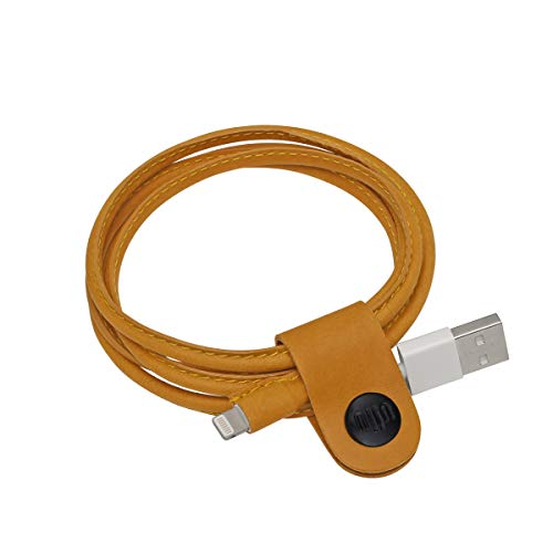 ullu Leather Covered Lightning Cable for All iPhone, iPad and iPod - Pl Buck