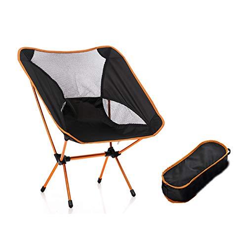 WPF ZTT Silla de Camping portátil, Compacto Silla Plegable Mochila con Bolsa de Transporte, for la Pesca con Mochila de Picnic Viendo el Partido (Color : Orange)