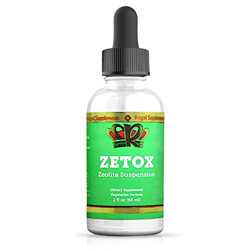 ZETOX | Easy to Take Liquid Zeolite Suspension with B-12 & D3 | Natural Energy & Immune System Booster that Supports Daily Detox & Optimal pH | Max Absorption Alkaline Drops (60 Servings)