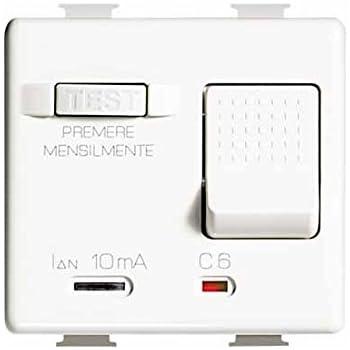 BTICINO L4305//16S Living international magnetotermico differenziale 16A 10mA 3KA