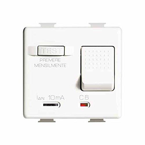 Bticino matix - Interruptor magnetotermico diferencial 10ma 1 polo+neutro 16a