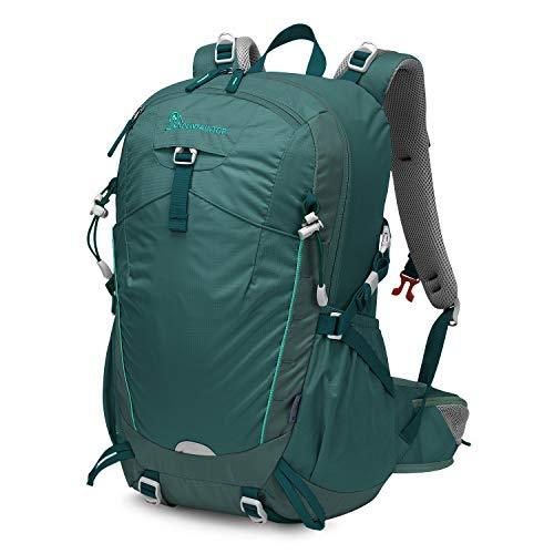 MOUNTAINTOP 35L Zaino Trekking Outdoor Multifunzione Zaino per Uomo Donna da Escursionismo Campeggio Viaggio Zaini con Copertura della Pioggia, Blu fumé