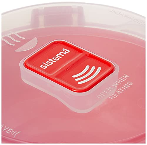 Product Image 3: Sistema Microwave Collection Breakfast Bowl, 28.7oz./850ml, Red
