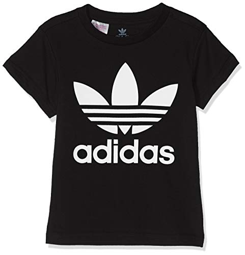 adidas Trefoil Tee T-Shirt Enfant Black/White FR: S (Taille Fabricant: 7-8Y)