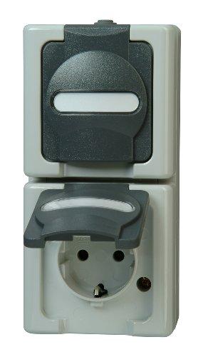 Kopp 131456008  Blue Electric Schutzkontakt-Steckdose, 2-fach mit Deckel