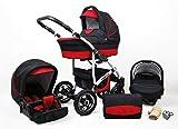 Passeggino Trio 3in1 2in1 Isofix Ovetto Compatto New L-Go by SaintBaby nero & rosso 3in1 con Ovetto