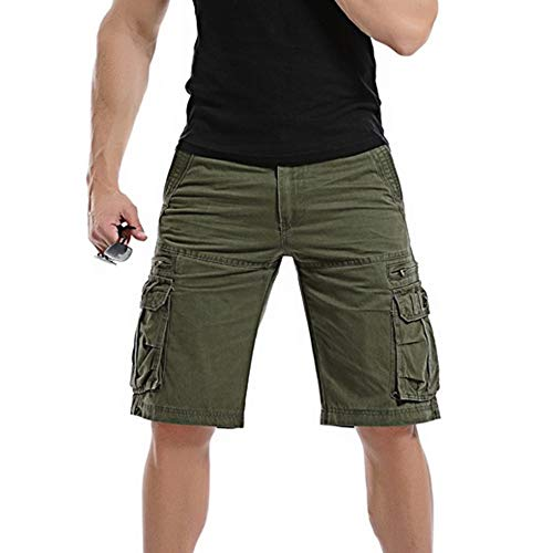Männer Casual Pure Color Outdoor Pocket Strand Arbeitshose Cargo Shorts Hose Outdoor Taschen Strand Arbeit Hosen Cargo Pant
