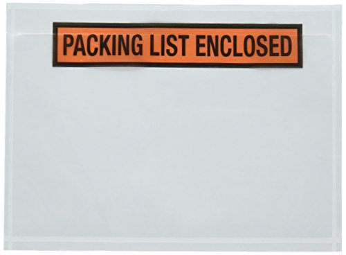 """Sales4Less Packing List Envelopes 7.5"""" X 5.5"""" Pouches Invoice Enclosed Adhesive Bags Pack of 100"""
