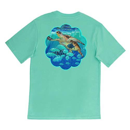 Guy Harvey Girl's Hawksbill Short Sleeve T-Shirt, Florida Keys/Hawksbill, Medium