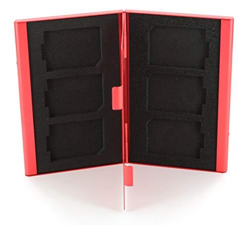 Caso de tarjetas para SD SDHC Pro Estuche Plástico ZedLabz 6 Paquete Azul