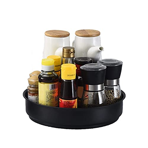 chishizhenxiang 12 Inch Turntable - 360° Rotating Food Storage Container Stainless Steel, Turntable Spice Rack Organizer for Cabinet for Kitchen, Fridge, Bathroom, Office, Countertop