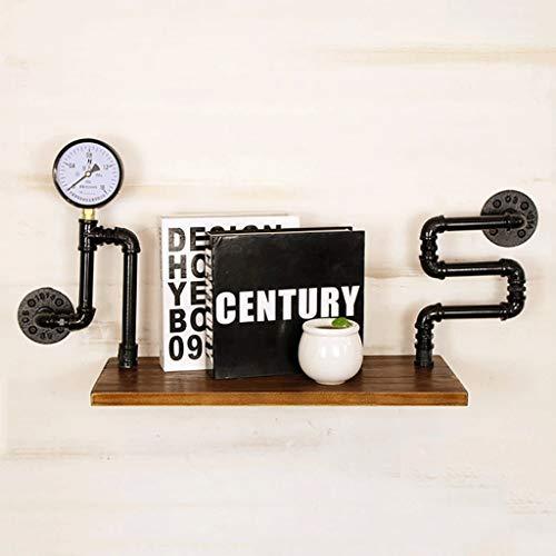 HLDLO opslag hout drijvende plank muur plank keuken Spice Rack nachtkastje boek planken industriële waterpijp rekken woonkamer zwarte Plant plank