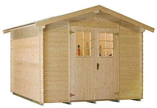 Lillevilla LV141Gartenhaus, Naturholz, 309x 223x 232cm