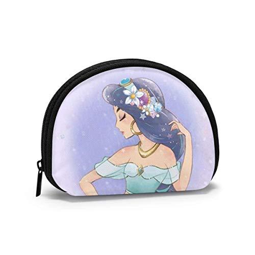 Monedero mini monedero Princ Jasmine, bolso de almacenamiento portátil para mujeres y niñas