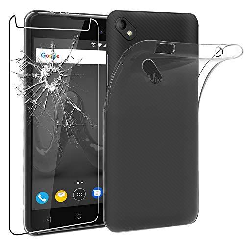 ebestStar - kompatibel mit Wiko Sunny 2 Plus Hülle Handyhülle [Ultra Dünn], Durchsichtige TPU Schutzhülle, Soft Flex Silikon, Transparent +Panzerglas Schutzfolie [Phone: 146.3x73.7x9.8mm 5.0