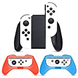 HEYSTOP Grip Compatibile con Nintendo Switch/Switch OLED JoyCon, 3 Pezzi JoyCon Manico Grip Kit...