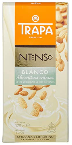 Trapa Intenso - Chocolate Blanco con Almendras Enteras, 175 g