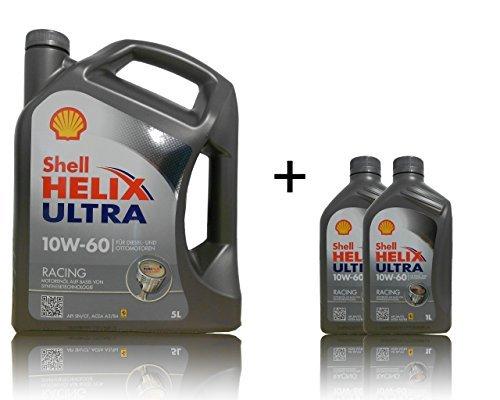 Shell 10W-60 Helix Ultra Racing - 10W60 5+2 Liter Motoröl …