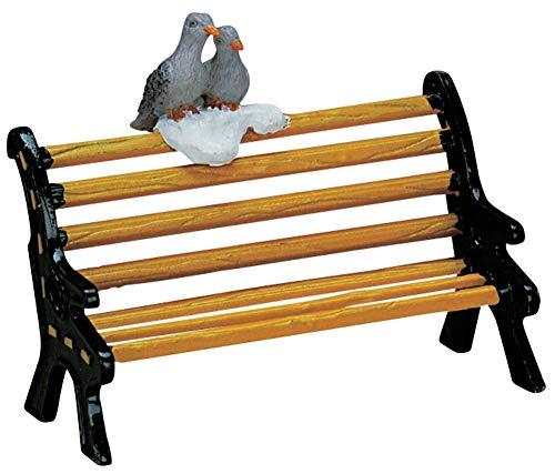 2007 Metal Bench w/ Birds Christmas Village Figurine