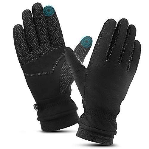 guanti antiscivolo TOVIKI Guanti Touch Screen Invernali Guanti Antiscivolo Antivento per Sci Moto Bici Alpinismo Trekking per Uomo e Donna