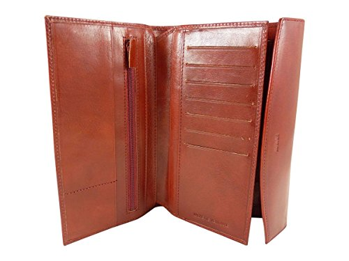 Chaussmaro Compagno tutto in un porta assegni in pelle (tallone in alto), rosso (Rosso) - R6505R