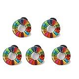 SDGs ピンバッジ バッチ バッジ 2020 最新仕様 琺瑯工芸 国連本部限定 (表面が丸みのあるタイプ(5個))