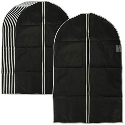 com-four® 10x Bolsa de Ropa - Bolsa de Ropa con Cremallera y Ventana - Cubierta Protectora para el Transporte y Almacenamiento de Camisas, Trajes y Chaquetas