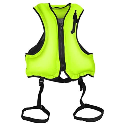 xiaowang Chaleco flotante, chalecos de buceo de ayuda de flotación, chaleco de seguridad inflable, chaleco de esnórquel, ajustable, unisex, para esnórquel, kayak, natación, crucero
