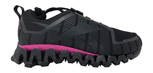Reebok Women's ZigWild TR 6 Sneaker, Black/Cold Grey/Pink, 9