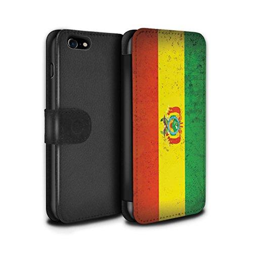 Telefoonhoesje Portemonnee voor Apple iPhone SE 2020 Americas Vlag Bolivia/Boliviaanse Ontwerp Flip Faux PU Lederen Cover Magnetische Sluiting Card Slots