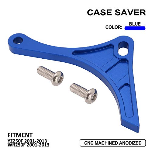 Engine Case Saver Case Protection CNC Billet Aluminum Chain Guard Sprocket For Yamaha YZ250F WR250F 2001-2013 - Blue