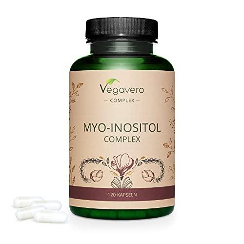 Myo Inositol Complex Vegavero®   PCOS   Con Chiro Inositol + Coenzima Q10 & Ácido Fólico   Sin Aditivos  Síndrome Ovarios Poliquístico + Fertilidad Mujer & Equilibrio Hormonal   120 Cápsulas
