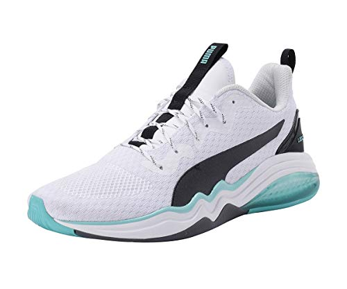 PUMA Men's Fitness Shoes, White Blue Turquoise, 44