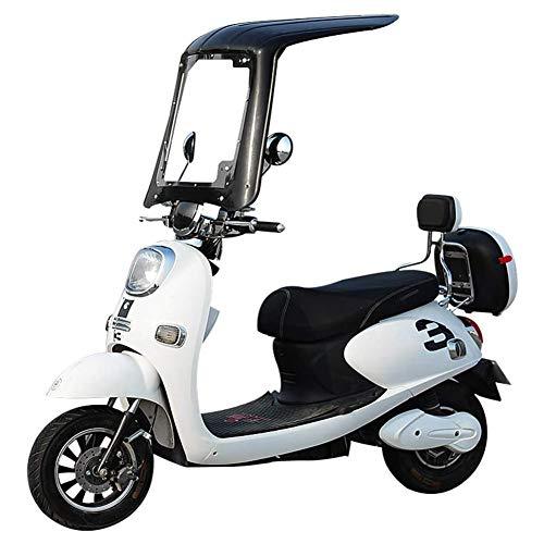 JTYX Cubierta Universal para sombrilla eléctrica para Motocicleta, toldo Transparente para Motocicleta, sombrilla para el Sol, toldo para Scooter, Cubierta Impermeable a la Lluvia