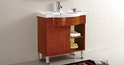 Retro Bathroom Vanity Unit And Basin Amazon Co Uk Home Kitchen