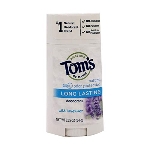 Tom's of Maine, Natural Long Lasting Aluminum Free Deodorant - Wild Lavender, 2.25 Ounce