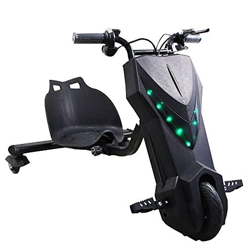 Drift-Trike Eléctrico 250 W 36 V 4,4 Ah Patinete eléctrico con sillín Drift-Trike Kart Kart eléctrico 15 km/h 3 velocidades Speed Control